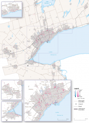 Map 24:  Other Wholesaling Archetype Employment Change, GGH, 2006-2016